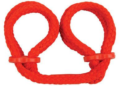 Japanese Silk Love Rope Wrist Cuffs Red - Perfect for beginners and the experienced! These fully adjustable Japanese Silk Love Rope Wrist Cuffs feature unsurpassed softness and strength. They are easy to fasten or remove and will not chafe or damage delicate skin. They are made with quality-tested, high-tensile construction. A 16 page booklet to guide you in your exploration of the pleasures of Japanese rope bondage is also included.