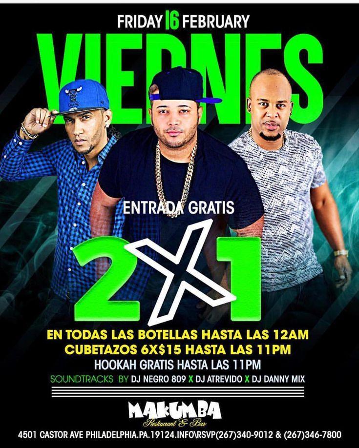HOOKAH GRATIS HASTA LAS 11PM Y ENTRADA TOTALMENTE GRATIS. MUSICA POR DJ ATREVIDO X DJ DANNY MIX X DJ NEGRO 809 INFO\RSVP 267-340-9012 & 267-346-7800 SOMOS EL MAS ALTO CONCEPTO DE LA DIVERSION EN PHILADELPHIA. MAKUMBA.. #promote #events #latinnight #friday #nightclub #party #drinks #hookah #ladies #philly #phillysupportphilly #djlife #afty #lapara #philadelphia #bachata #reggaeton #trap #hiphop #salsa #dembow