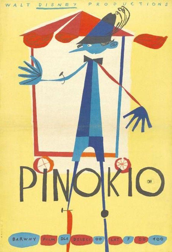 Pinocchio : affiche polonaise