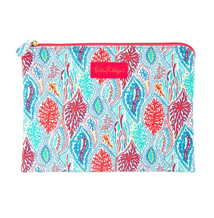 Lilly Pulitzer Printed Large Pick Me Up Pouch in Let Minnow- perfect for travel, make-up, school or a night out $32