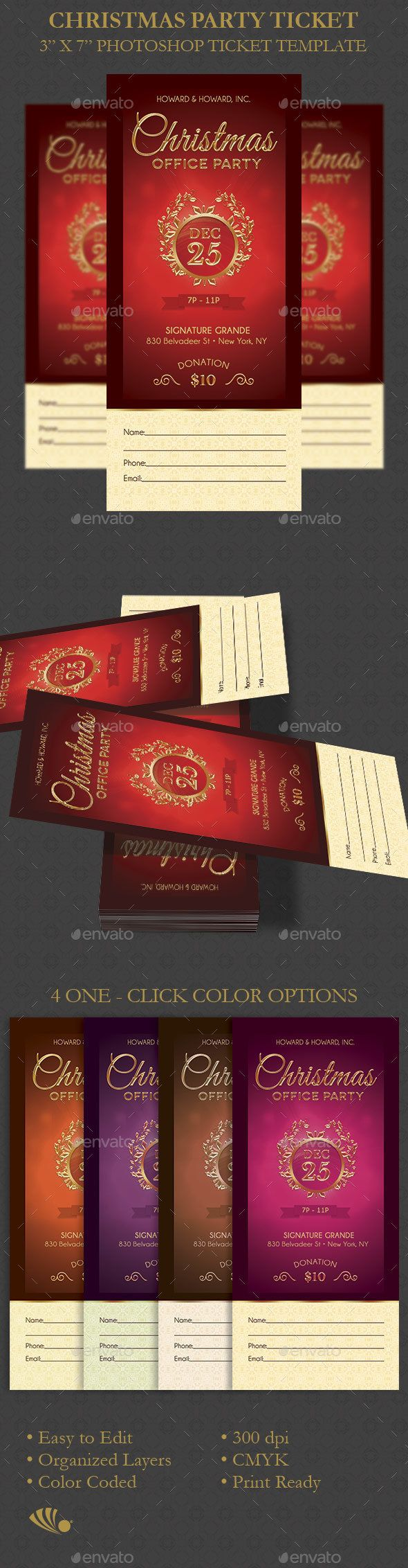 Christmas Party Ticket Template 14 best Church