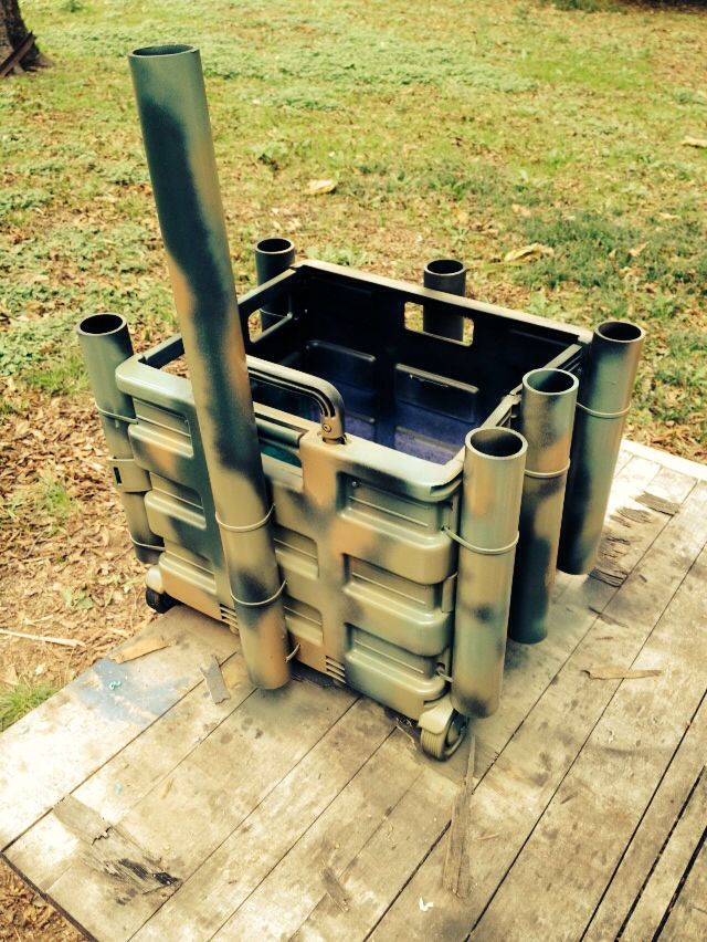 Home made milk crate for my kayak.