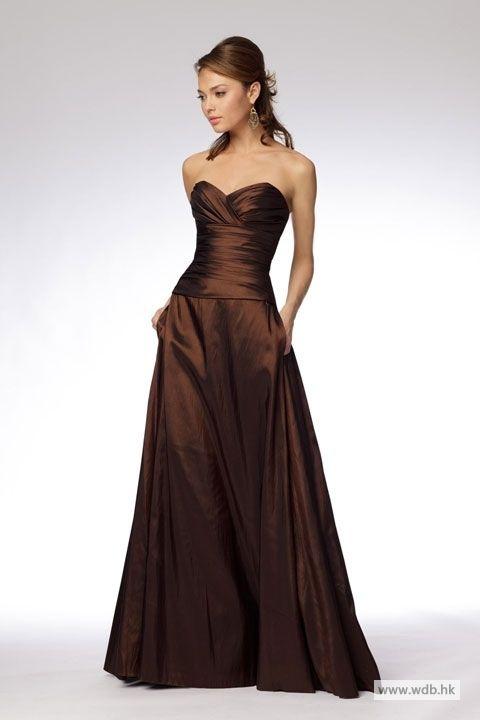 outdoor bridesmaid dresses Fashionable A-line empire waist taffeta dress for bridesmaid $127.8