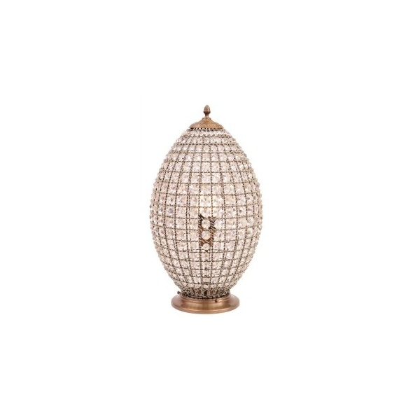 Crystal Egg Table Lamp
