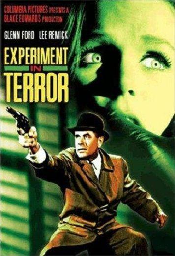 """Cartel de la película Chantaje contra una mujer"""" (Experiment in Terror, 1962)"""