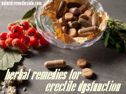 What herbs are good for erectile dysfunction