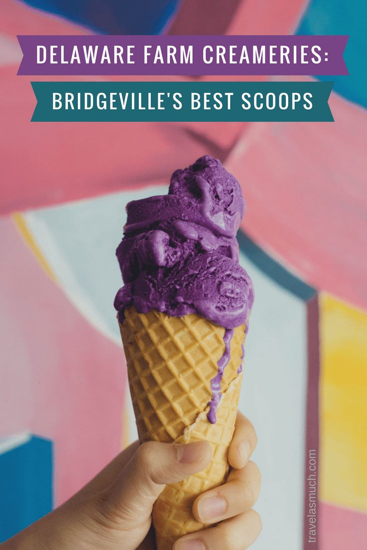 Bridgeville, Delaware is a small town with a population of about 2000. It also has two Delaware farm creameries selling some of the best homemade ice cream you will ever taste.