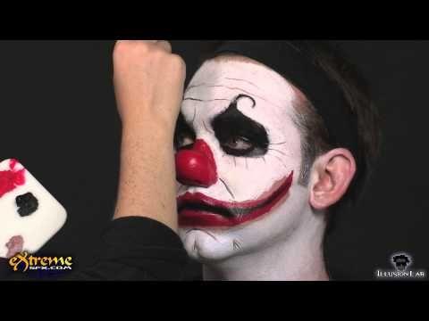 Clown makeup how to diabolical clown halloween makeup for Clown schminktipps