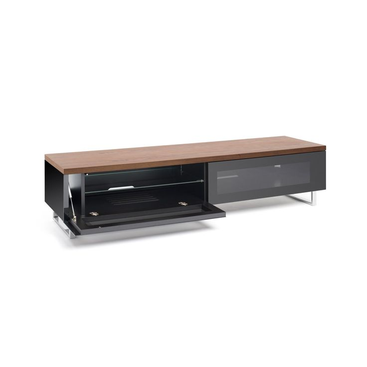 Hover To Zoom · Techlink Pm160 Panorama Low Cabinet Tv Stand With Drop Down  Doors Atg S ...