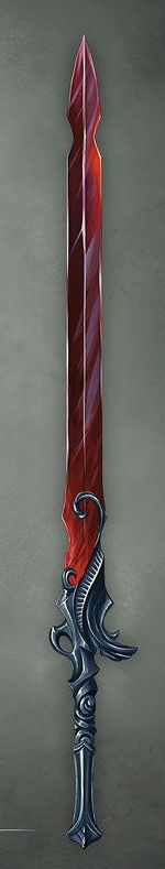Another sword that I really like the whole design of it from the handle to the blade and the colour of the blade.