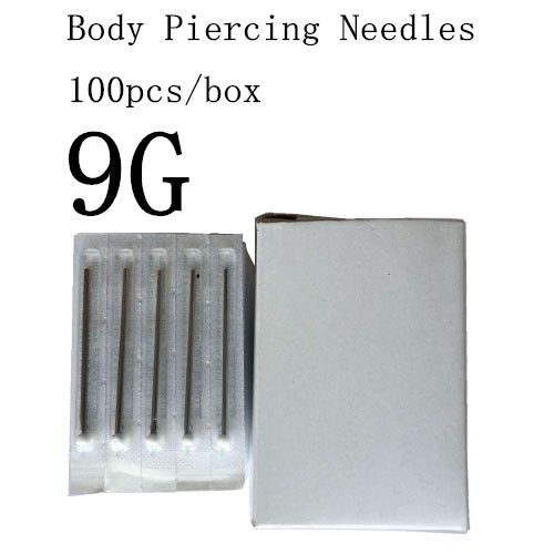 100PC 9G Piercing Needles 9G Sterile Disposable Body Piercing Needles 9G For Ear Nose Navel Nipple Free Shipping