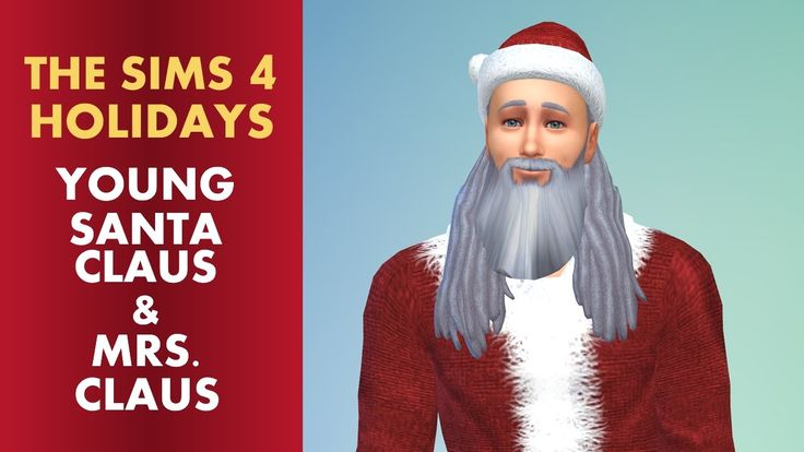 The Sims 4 Christmas - Young Santa and Mrs. Claus CAS