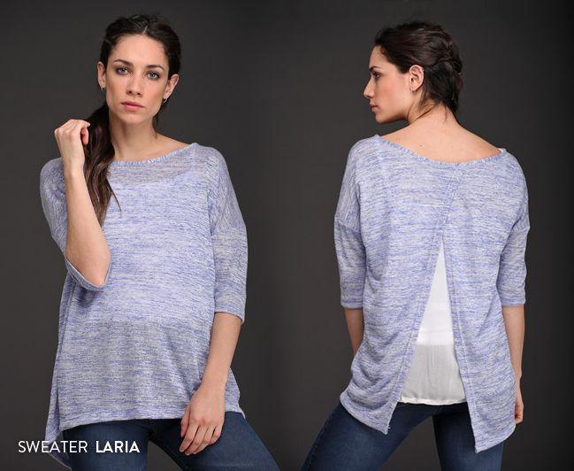 Una prenda liviana, femenina y con estilo. El Sweater Laria tiene una hermosa caída y un detalle en espalda que lo convierten en único. #Detalles #Tendencias