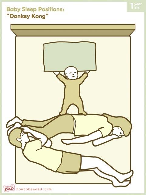 haha YES.: Co Sleep, Beds, New Parents, Jazz Hands, Baby Sleep Positive, Funny, Donkeys Kong, Kids, Donkey Kong