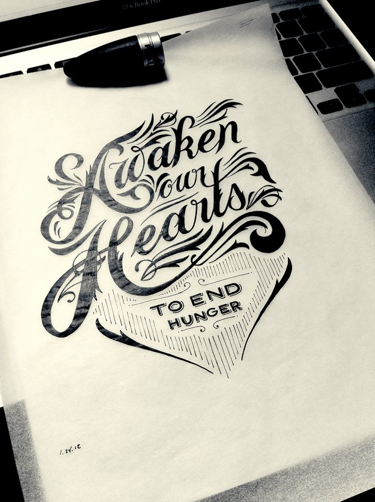 beautiful font! if i got a tattoo i'd want that handwriting Hand Drawn Type by Drew Melton - Love his work