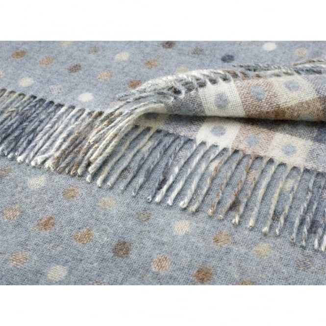 Reversible Spot and Check Throw from Bronte & Moon at Black By Design