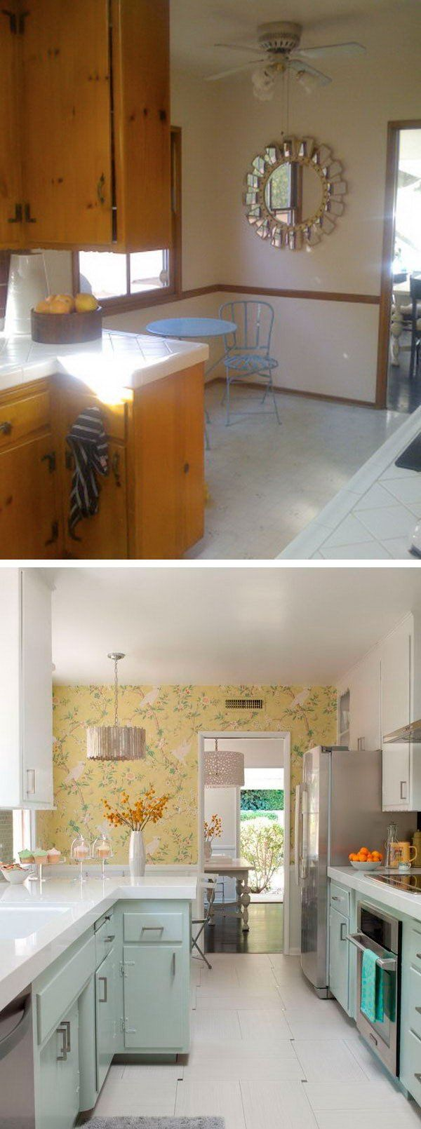 before and after 25 budget friendly kitchen makeover ideas - Budget Kitchen Ideas