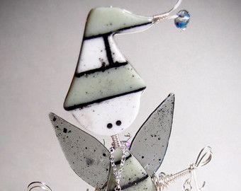 Gesmolten glas kunst Doll kerst Elf Fairy door CoalescentAlchemy