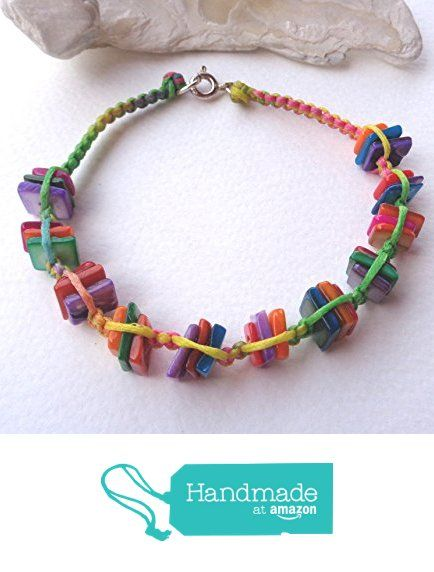 Colorful Mother of Pearl knitted Bracelet https://www.amazon.com/dp/B0749MDPQ1/ref=hnd_sw_r_pi_dp_ztBEzbXSHDXAE #handmadeatamazon