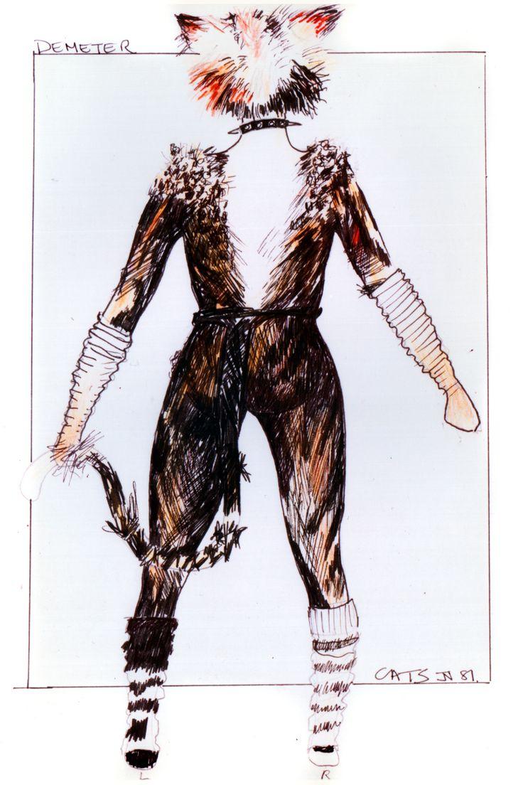 Demeter design (back view) original costume design, John