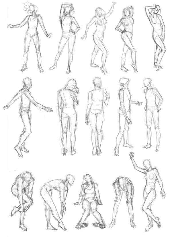 картинки человека в разных позах инструкция созданию цветов