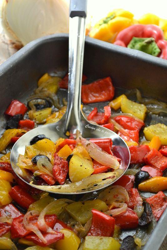 Peperoni e verdure al forno FACILISSIME a prova d'errore!
