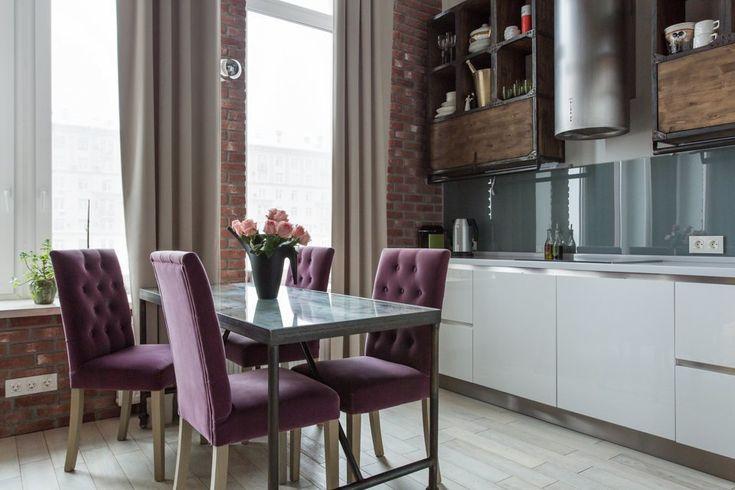 кухни Giulia Novars - стол из старой двери со стеклом