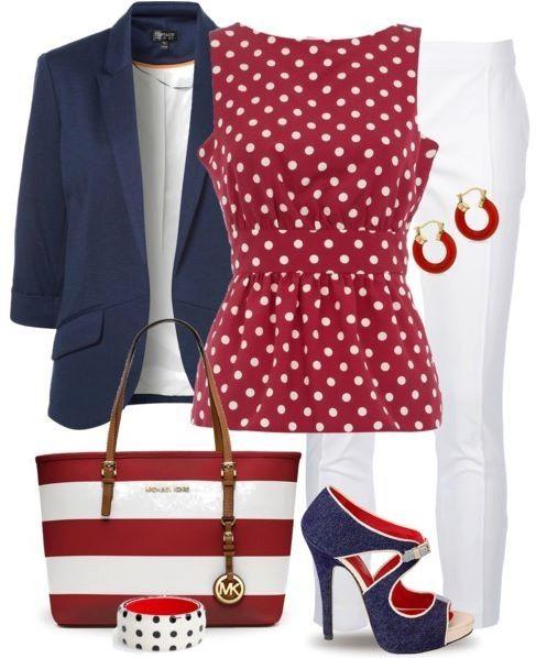 Cute poke-a-dot outfit