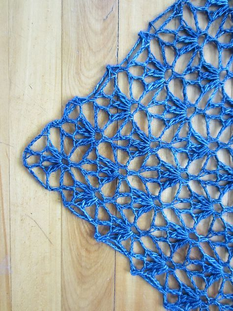 Ravelry: Project Gallery for My Blue Jeans Shawl pattern by Knottie by Nature