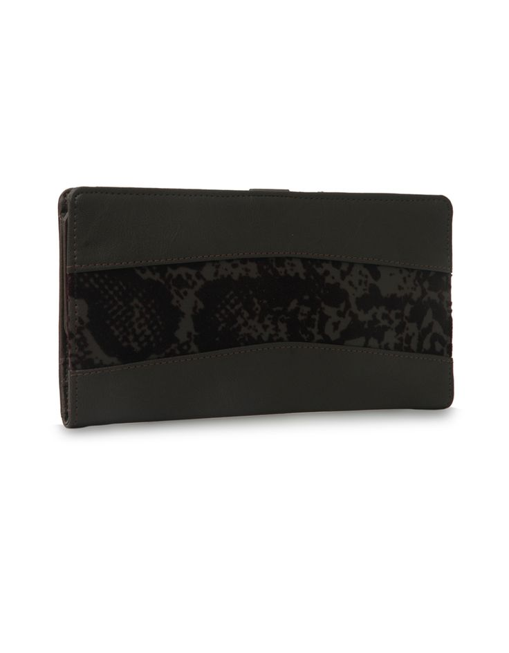 W Brio Bindas Brown: A Baggit wallet accentuated by a floral strip.