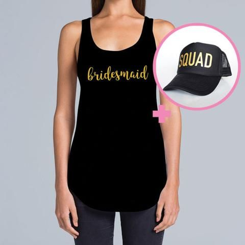 Bridesmaid Singlet & Squad Hat Package
