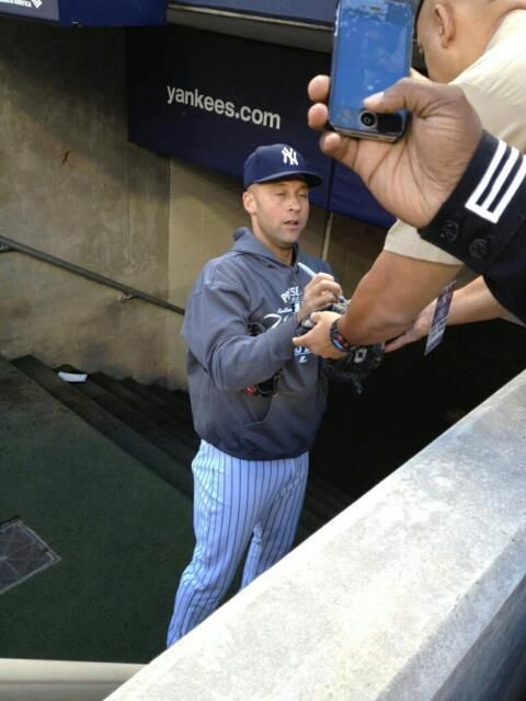 Derek Jeter in mid-sneeze. Even celebrities have their fair share of awkward moments.