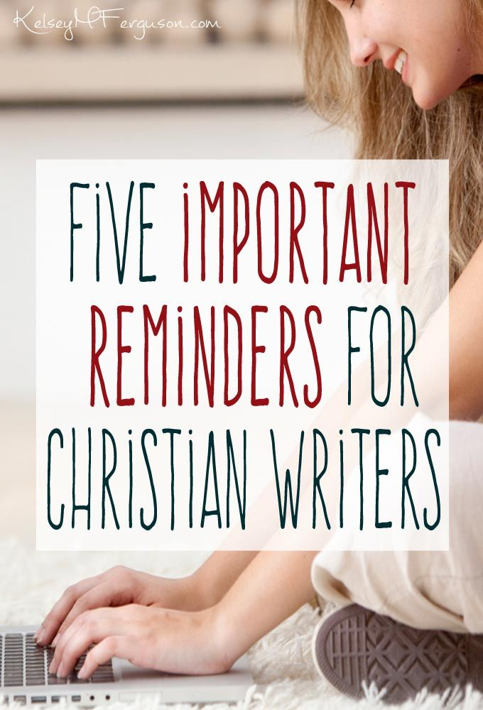 Are you a Christian writer burning out or struggling? Check out these five important reminders to remind you why you started and keep you going.