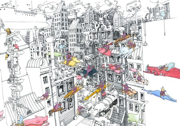 'New Future'. Giclée Art Print by Mattias Adolfsson
