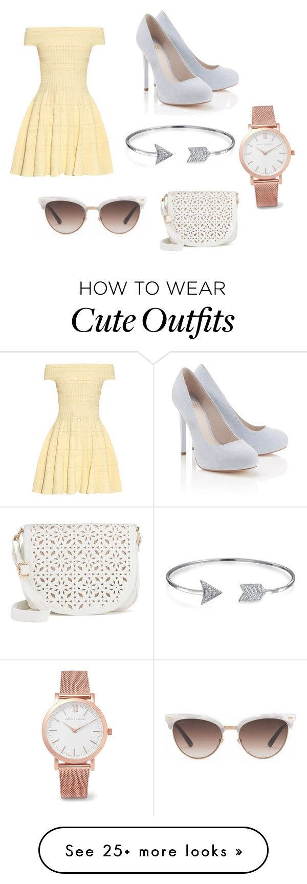"""""""Cute date outfit"""" by brookeleegrambau on Polyvore featuring Alexander McQueen, Lipsy, Under One Sky, Bling Jewelry, Larsson & Jennings and Gucci"""