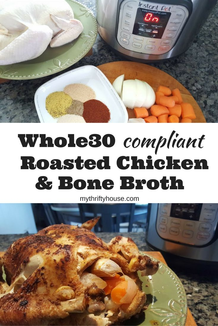 Today you are getting a two for one post as I share how I prep a Whole30 roasted chicken and bone broth for lunches, soups and stews throughout the week.