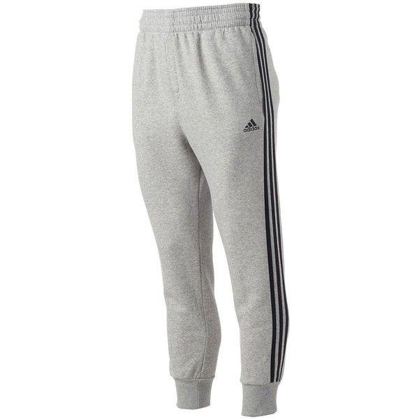 Men's Adidas Slim 3S Sweatpants, Size: L, Gray Black (109.550 COP) ❤ liked on…