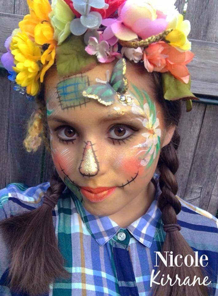 Pretty Scarecrow Face Paint