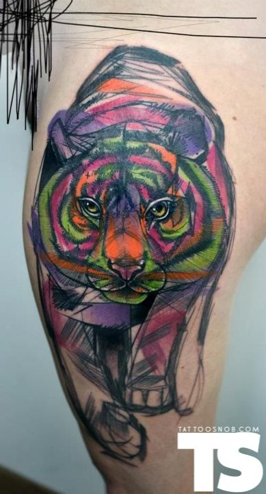 Love this tattoo...the colors are amazing...Tattoo by Peter Aurisch at Signs and