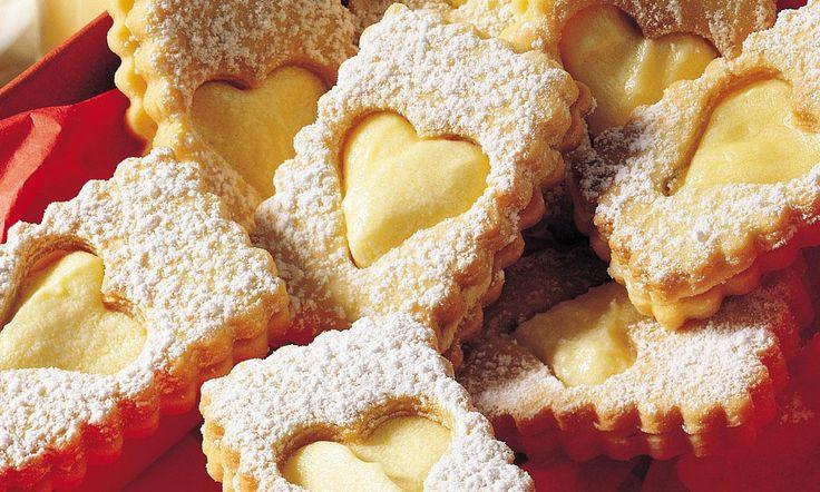 Eierlikör-Kekse Rezept: Mürbteigkekse mit Eierlikör-Creme – Eins von vielen …