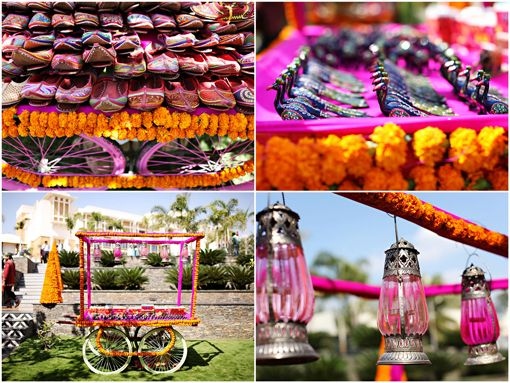 Destination Indian wedding decor on IndianWeddingSite.com