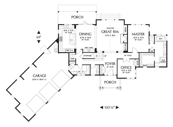 Mascord House Plan 2464 The Manitoba House Home Plans