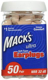 mack's ultra soft foam earplugs