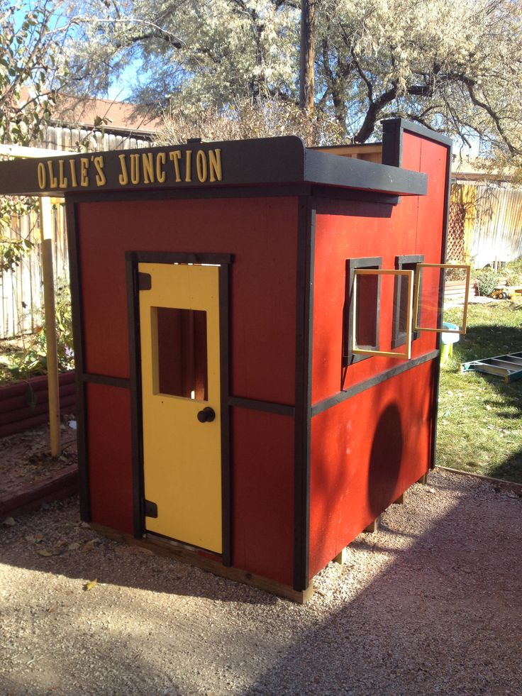 Ollie's caboose playhouse