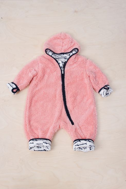 EM Ulven Fleece Suit Oldpink/Makrill - emma och malena