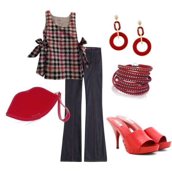 Latino Girls by psalmblg on Polyvore featuring polyvore fashion style RED Valentino Miu Miu Lulu Guinness