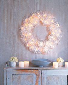 Simple paper-doily wreath