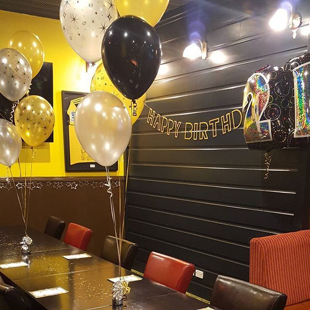 I love it when party day out does the concept. Enjoyed setting this one up at Greenman Pub.   #buildabirthday #21st #balloons #partysuppliesnz