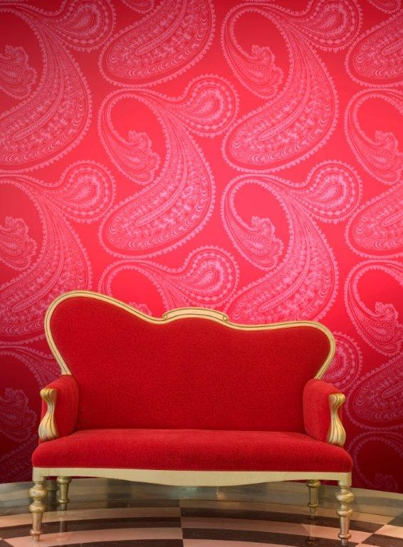 Rajapur Paisley Wallpaper In Pink And Red, By Cole U0026 Son Home Design Ideas
