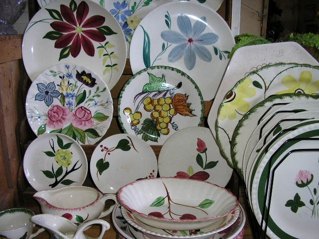 Painted dishes by Blue Ridge and others & 54 best Blue Ridge Dinnerware images on Pinterest | Blue ridge ...
